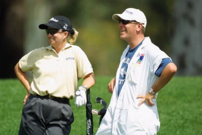 2001 Kraft Nabisco  Working first major with caddy Mike Patterson