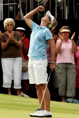 2008 Australian Open Making the winning putt against Ji Yai Shin in a playoff