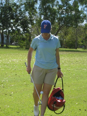 Karrie Practicing in Ayr, Australia at The Ayr Golf Club