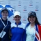 Karis Davidson and Becky Kay at the US Open - Winners of 2017 Karrie Webb Series